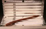 """Diamond Tail Worm Mold, 4.5"""", 5 Cavity"""