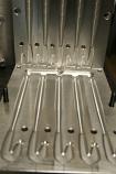 "Split Paddle Tail Worm Mold, 6.75"", Injection, 5 Cavity"