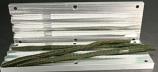 """Diamond Tail Worm Mold, 12"""", 3 Cavity"""